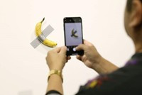 Police guard new $120,000 duct-taped banana after 'hungry artist' eats it