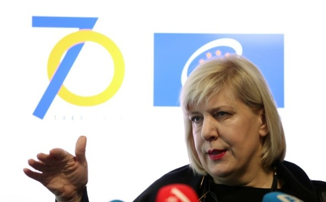 Council of Europe Commissioner for Human Rights Dunja Mijatovic holds a press conference in Sarajevo, Bosnia and Herzegovina, December 6, 2019. Reuters Photo