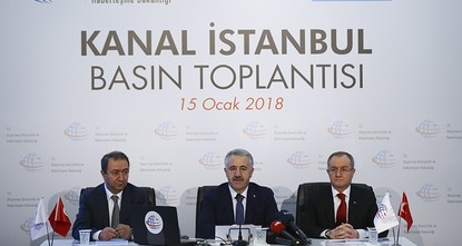 pTransport, Maritime Affairs and Communications Minister Ahmet Arslan Monday unveiled the final route of the Kanal Istanbul project, a canal parallel to the Bosporus that is planned to connect the...