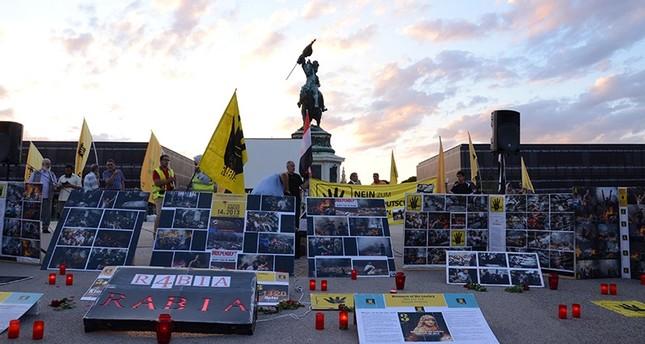 مظاهرات في النمسا وألمانيا في الذكرى الرابعة لـ مذبحة رابعة