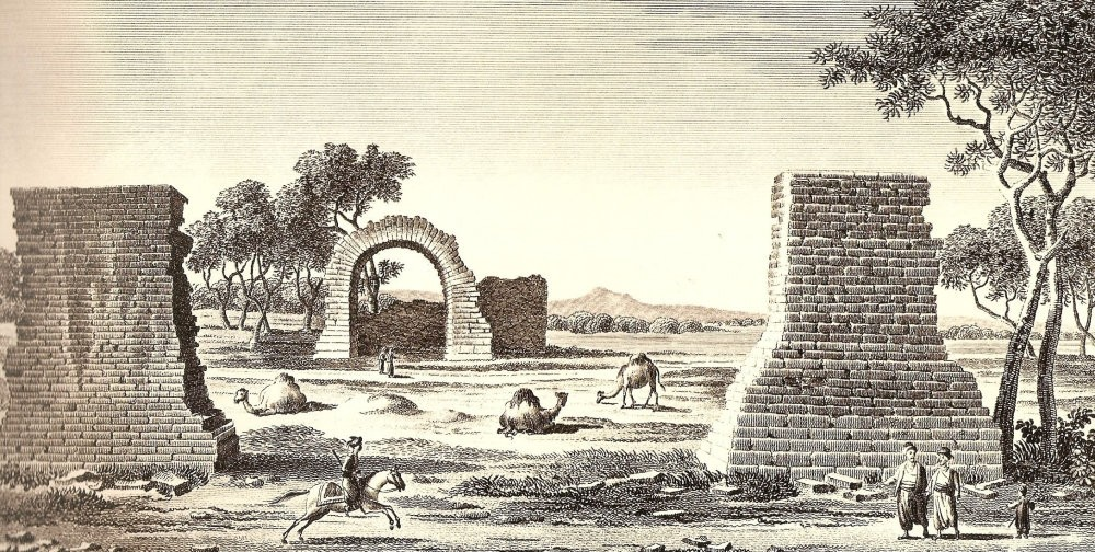 A gravure by an anonymous artist depicts the remains of the City of Troy.
