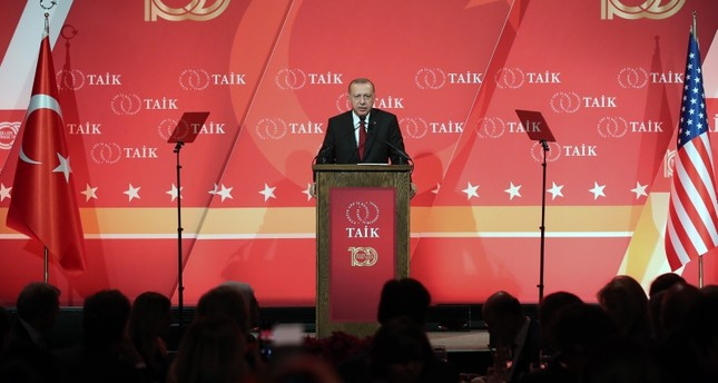 Erdoğan speaks at the 10th Turkey Investment Conference organized by the Turkey-U.S. Business Council (TAİK). (AA Photo)