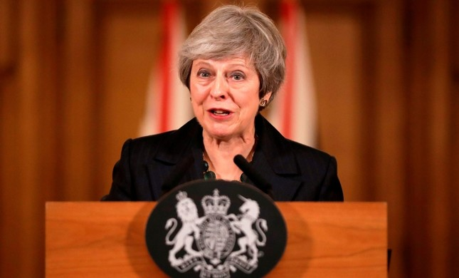 Britain's Prime Minister Theresa May gives a press conference inside 10 Downing Street in central London on November 15, 2018. (AFP Photo)