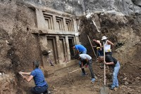 Ancient Lycian sepulcher discovered in Turkey's Antalya