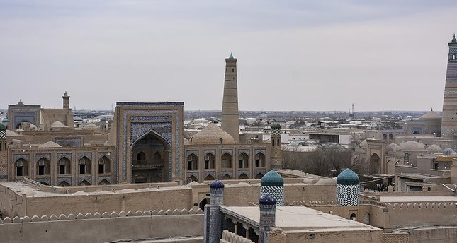 Ichan Kala, the walled inner town of the city of Khiva, Uzbekistan, is a UNESCO World Heritage.