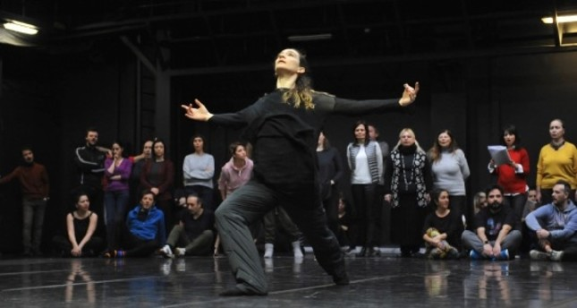 Image shows a scene from the rehearsals.