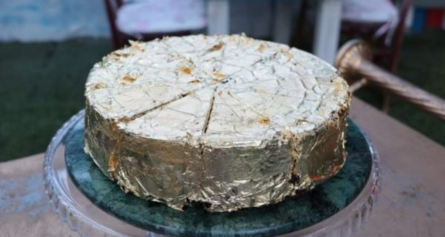 The golden cake is sold for TL 56,000. DHA