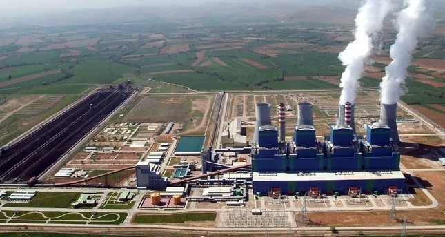 A view of the Afşin thermal power plant in Elbistan, Turkey with a nearly 3,000 megawatt capacity.