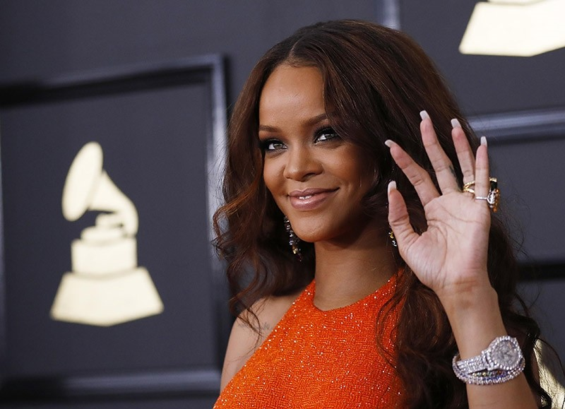Singer Rihanna arrives at the 59th Annual Grammy Awards in Los Angeles, California, U.S. on Feb. 12, 2017. (Reuters Photo)