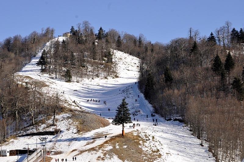 Kartepe ski resort located in Turkey's Kocaeli province (DHA Photo)