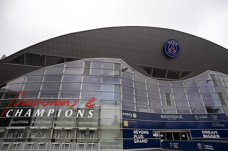 This file photo taken on May 02, 2014 shows the entrance of the Parc des Princes stadium, home of the Paris Saint-Germain (PSG) football team, in Paris. (AFP Photo)