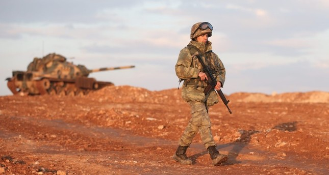 A Turkish soldier seen near the Syrian town of al-Bab as part of the Operation Euphrates Shield on Jan. 23.