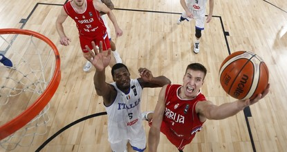 pIn today's semi-final, the Russians take on Serbia, who ended Italy's run with an 83-67 victory thanks to 22 points from Bogdan Bogdanovic. The game at Istanbul's Sinan Erdem Dome tips off at 9:30...