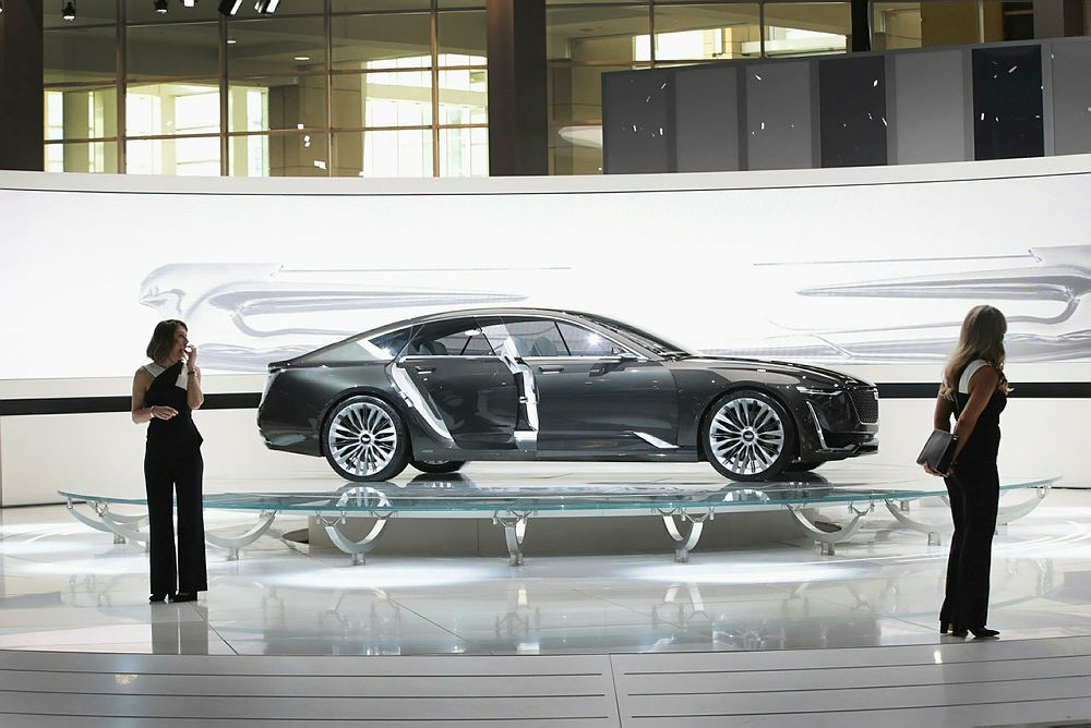 Cadillac shows off their Escala concept car at the Chicago Auto Show.