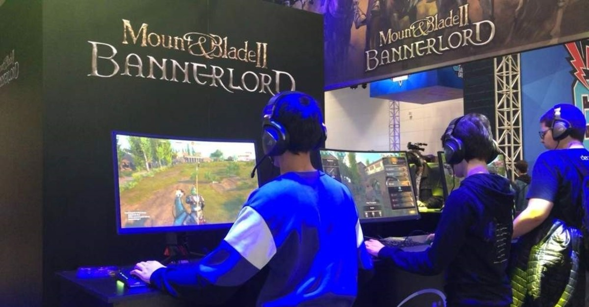 Lucky gamers got to test out the highly-anticipated Turkish game Mount & Blade II: Bannerlord before its release in March. (Photo by Emre Ba?aran)