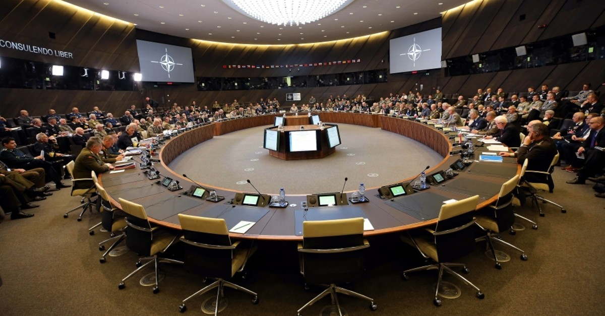 The Chief of Staff of NATO member states holding a meeting at NATO's military committee in Brussels, May 22, 2019.