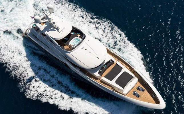 La Passion, an award-winning super luxury yacht produced in the Antalya Free Zone, is seen in this file photo. DHA Photo