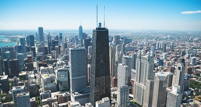 This landscape picture shows the skyline of Chicago with the 875 North Michigan Avenue building, formerly the John Hancock Center, is seen in the center (Photo: iStock)
