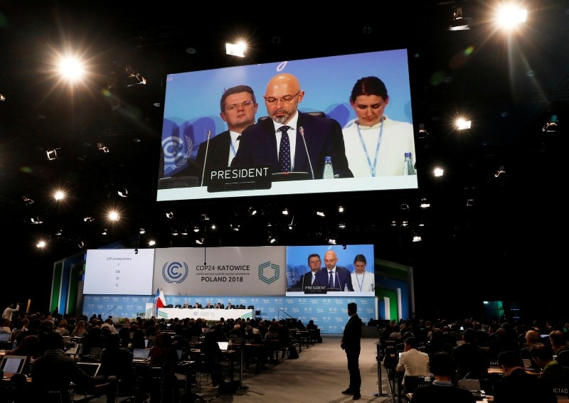President Michal Kurtyka speaks during a final session of the COP24 U.N. Climate Change Conference 2018 in Katowice, Poland, December 15, 2018. (REUTERS Photo)
