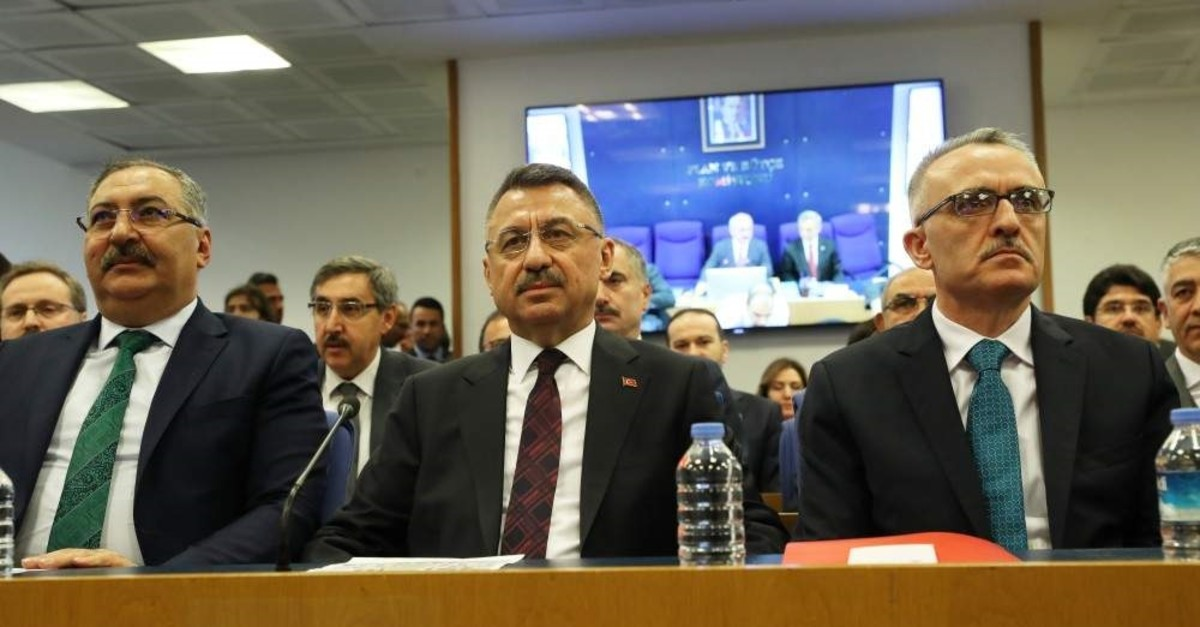 Vice President Fuat Oktay attends a budget commission at the Turkish Parliament, Ankara, Oct. 29, 2019. (Sabah File Photo)