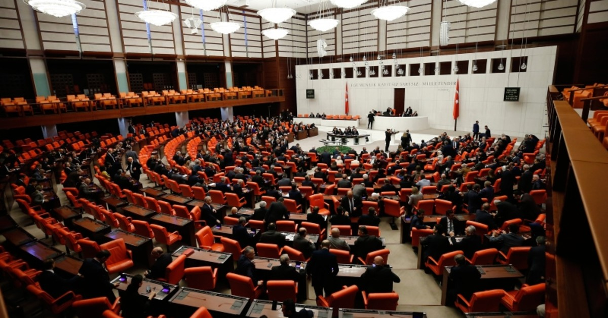 A total of 509 parliamentarians participated in the voting, 325 of whom voted for the resolution while 184 voted against, Ankara, Jan.2, 2020. (IHA Photo)