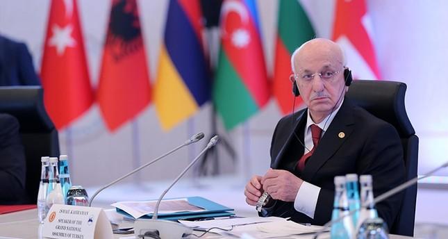 رئيس البرلمان التركي يدعو العالم إلى عدم الصمت حيال ما يحدث في فلسطين