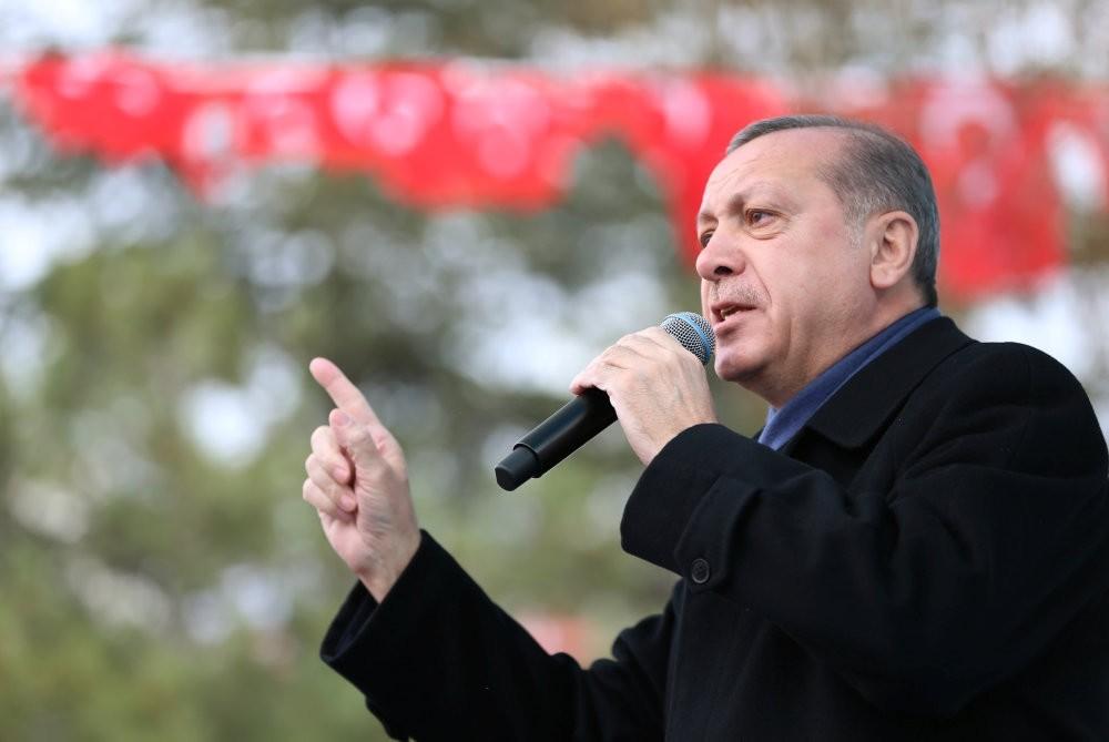 President Erdou011fan speaks during a ceremony in Eskisehir, Turkey, March 17, 2017.