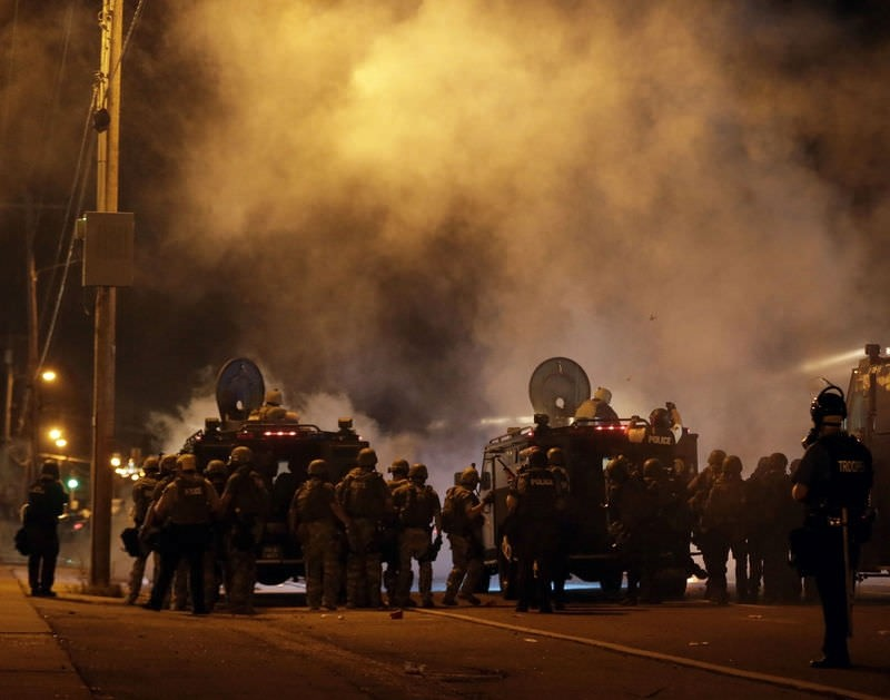 Ferguson shooting protests, reaction