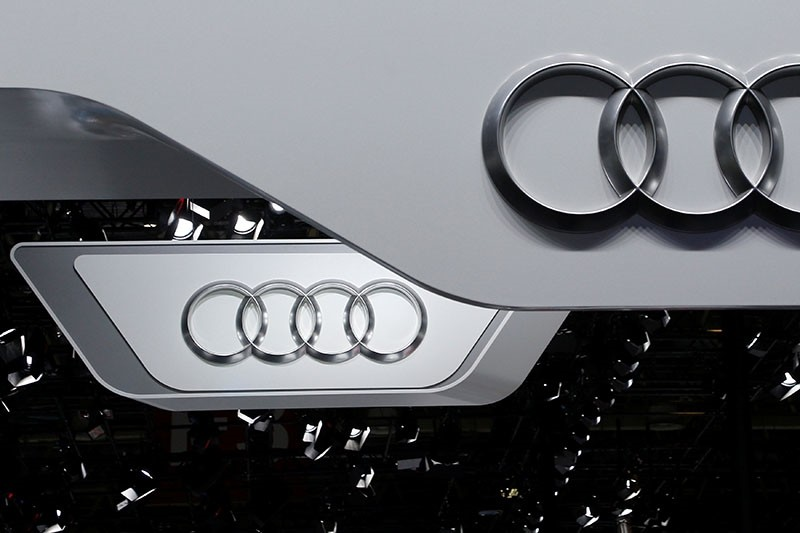 The logo of Audi is pictured at the Auto China 2016 auto show in Beijing, April 25, 2016. (Reuters Photo)