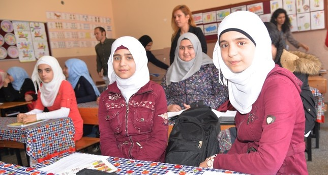 Syrian children are provided multidimensional education programs in Turkish schools, Adana, March 20, 2019.