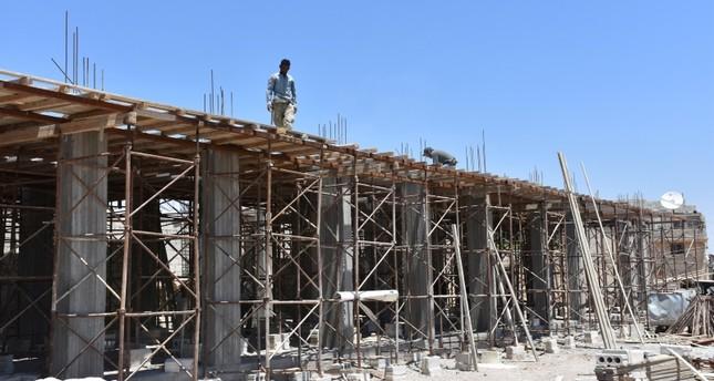 قطاع البناء يزدهر بمنطقة درع الفرات بعد تطهيرها من الإرهاب