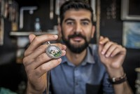 Turkish micro artist captures Istanbul's beauty on accessories