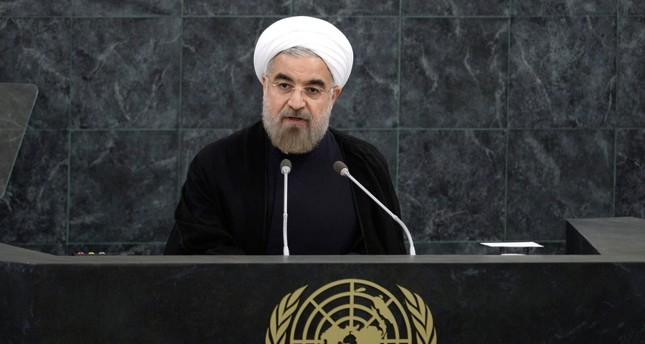 Hassan Rouhani, president of Iran, speaks during the general debate of the 68th session of the United Nations General Assembly at United Nations headquarters in New York, New York, Sept. 24, 2013. (EPA Photo)