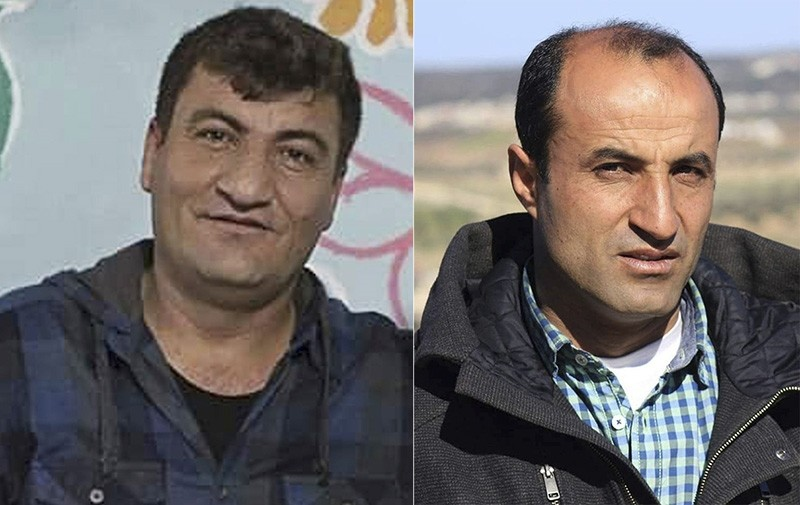 Undated photos released by Syrian anti-regime activist group Kafranbl News show Syrian activist Raed Fares (L) and Hammoud al-Juneid (R), who were killed on Friday, Nov. 23, 2018. (via AP)