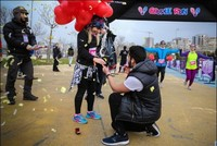Valentine's day will be celebrated with a run this year. Couples will meet in three different cities for a weekend full of love and fun as part of the