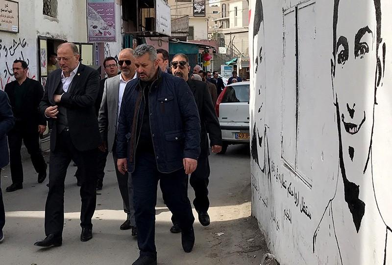 Turkish lawmaker Hasan Turan on a recent visit to Palestine. (AA Photo)