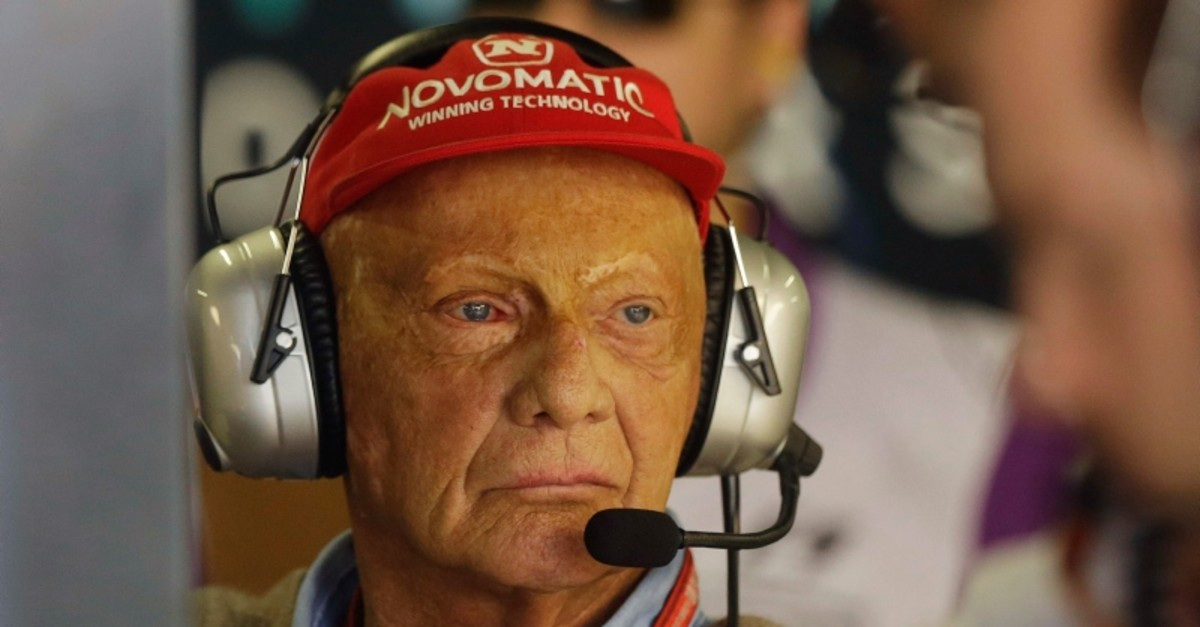 In this Friday, Nov. 10, 2017 file photo, former Austrian Formula One driver Niki Lauda stands in the Mercedes pit during the first free practice at the Interlagos race track in Sao Paulo, Brazil. (AP Photo)
