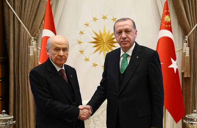 MHP Chairman Bahçeli announced on Jan. 8 that his party will not name a candidate for the 2019 presidential election and will support the re-election of President Erdoğan instead.