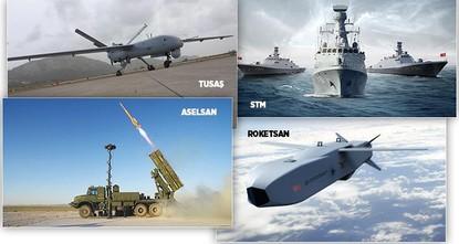 4 شركات تركية ضمن قائمة أكبر 100 شركة في العالم في الصناعات الدفاعية