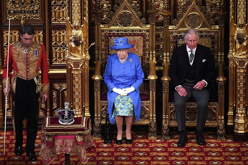 Britain's Queen Elizabeth and Prince Charles attend the State Opening of Parliament in central London, Britain June 21, 2017. (Reuters Photo)