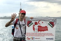 Palestinian activist Aladdin al-Fares started a walk from Istanbul to capital Ankara on Friday.