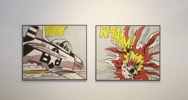 Pop Art adorns the walls at the UNIQ Expo.