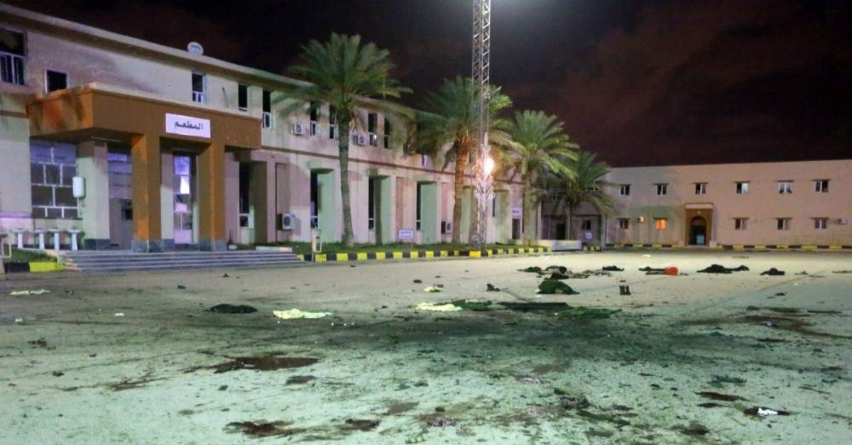 At least 30 people were killed and dozens injured in an airstrike on a military school in the Libyan capital Tripoli, Jan. 4, 2020. (AFP)