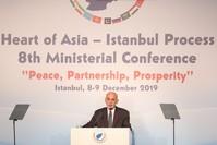 الرئيس الأفغاني أشرف غني خلال مشاركته في مؤتمر إسطنبول قلب آسيا المنعقد في مدينة إسطنبول (الأناضول)
