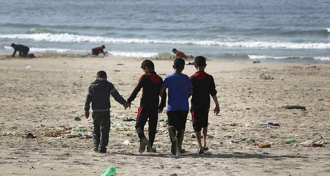 The Israeli strike killed four Palestinian children playing soccer on Gaza Beach, July 16, 2014.