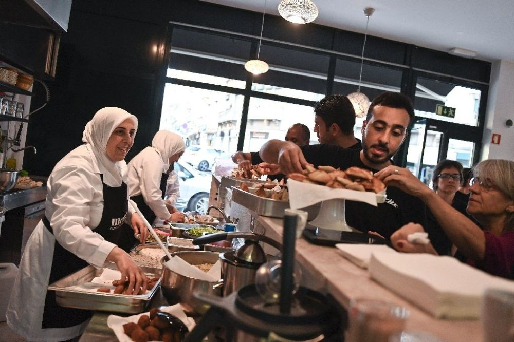 Mezze serves up traditional Syrian dishes,such as yalanji, fattoush salad, kibbeh and baklava, by experienced cooks.
