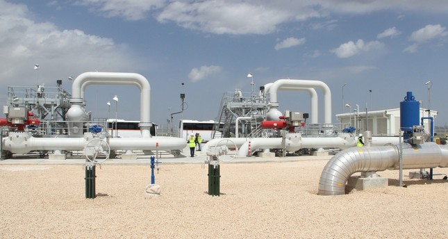 Gas pipes and valves in Turkey's central Anatolian city of Eskişehir through which Trans-Anatolian Natural Gas Pipeline (TANAP) passes.