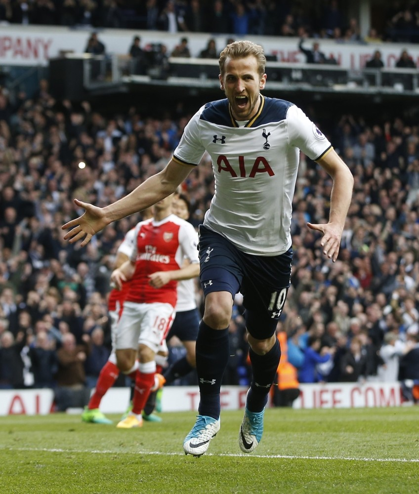 Tottenham forward Harry Kane scored in the 2-0 win over Arsenal to take his league tally to 21 for the season.