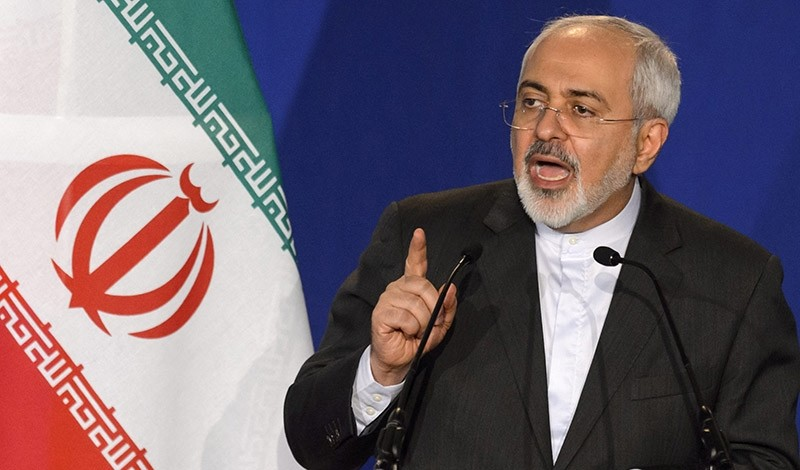 Iranian Foreign Minister Mohammad Javad Zarif speaks during a press event after the end of a new round of Nuclear Iran Talks (EPA File Photo)