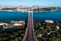 Kenyan, Ethiopian athletes dominate world's only cross-continental marathon in Istanbul